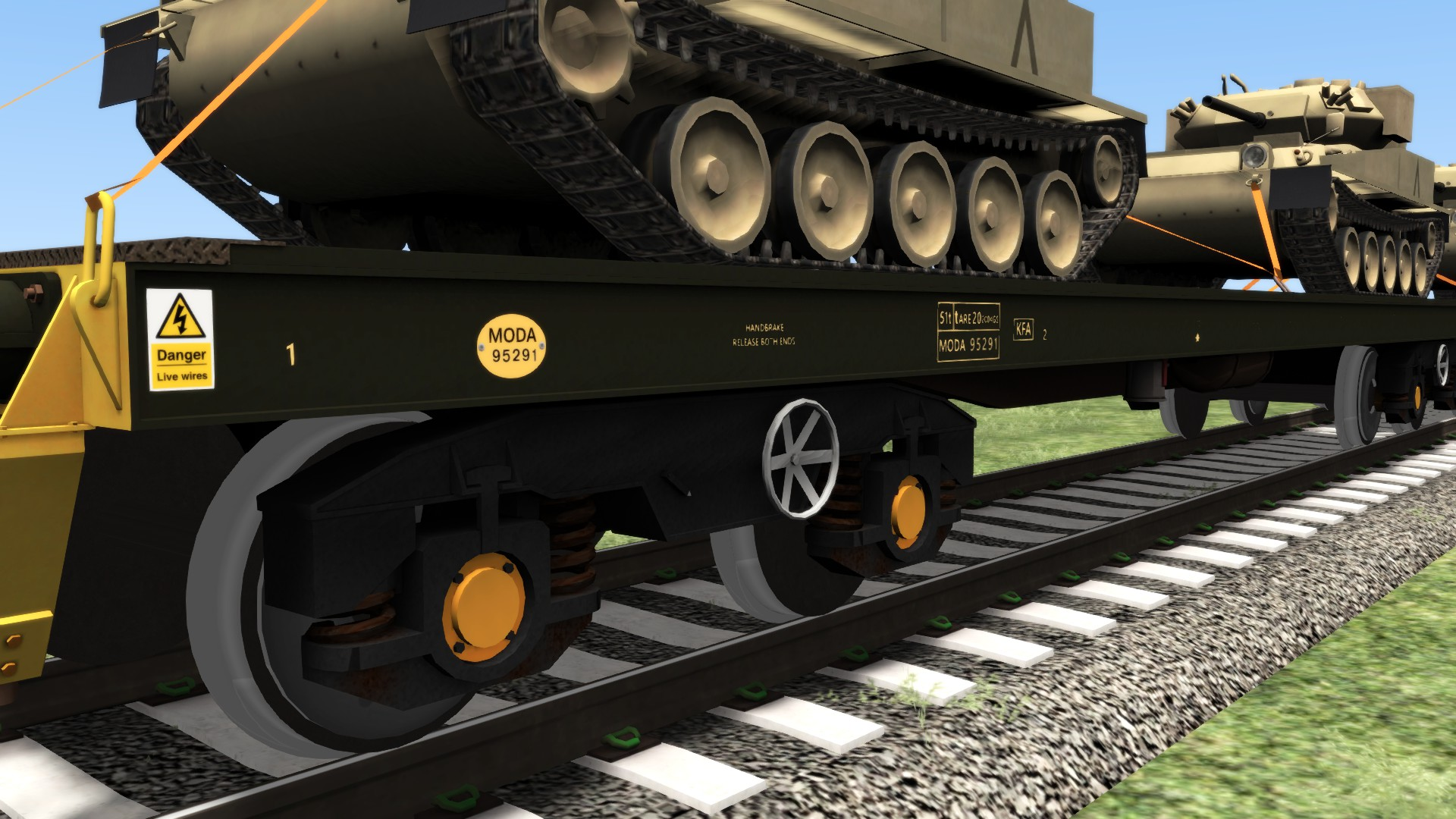 JUSTTRAINS - UK MILITARY WAGON PACK