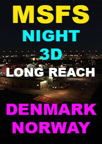TABURET - NIGHT 3D DENMARK - NORWAY - V2 MSFS