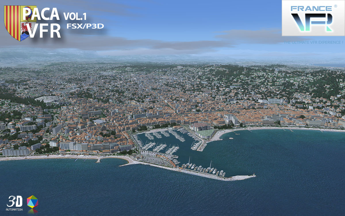 FRANCEVFR - FRENCH RIVIERA VFR 3D AUTOMATION VOL. 1 FSX