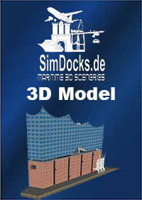 SIMDOCKS.DE - 3D MODEL ELBE PHILHARMONIC HALL HAMBURG