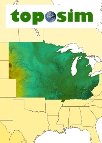 TOPOSIM - CONTINENTS - UNITED STATES – UPPER MIDWEST BUNDLE