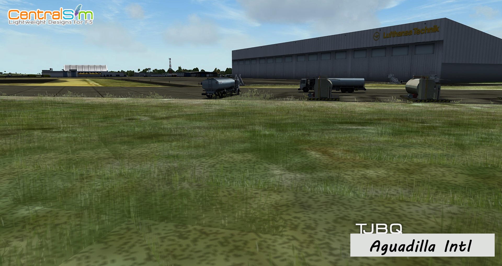 CENTRALSIM - TJBQ RAFAEL HERNANDEZ INTERNATIONAL AIRPORT - AGUADILLA P3D