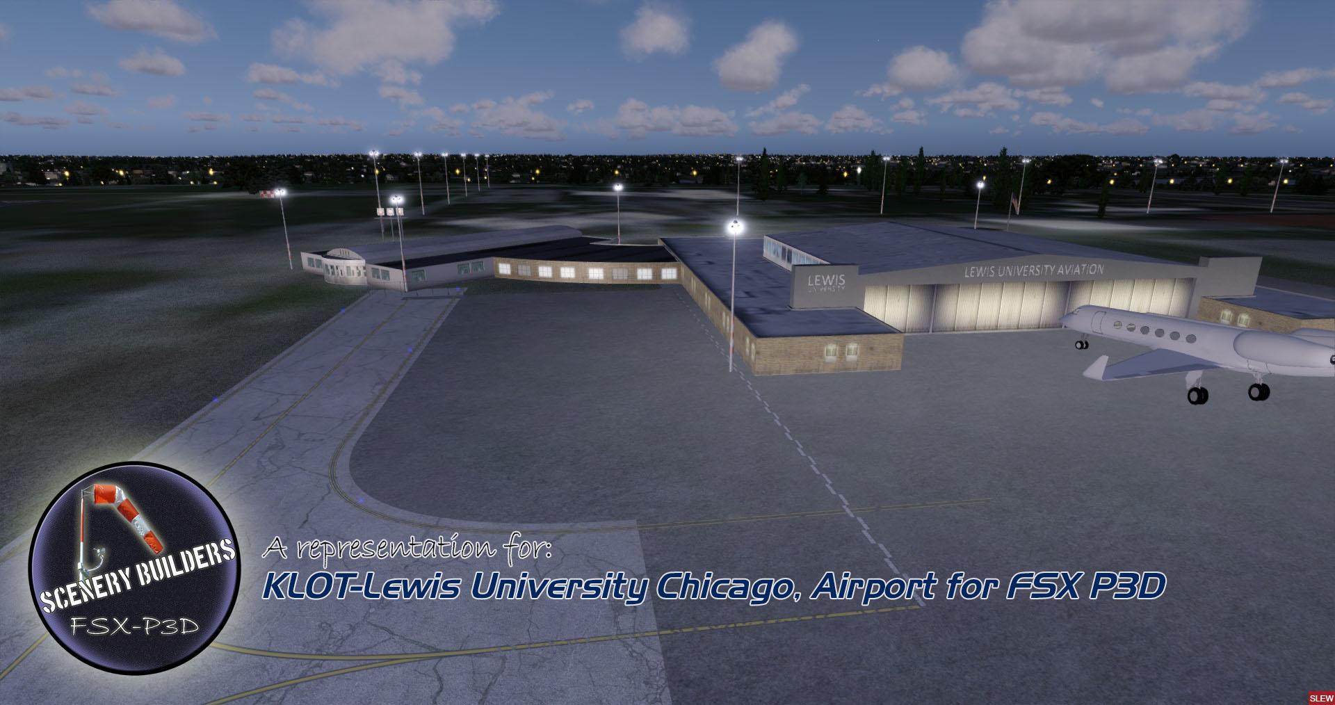 FSXCENERY - KLOT-LEWIS UNIVERSITY CHICAGO FSX P3D