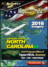 MEGASCENERYEARTH - PC AVIATOR - MEGASCENERY EARTH V3 - NORTH CAROLINA FSX P3D