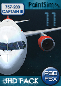 PAINTSIM - UHD TEXTURE PACK 11 FOR CAPTAIN SIM BOEING 757-200 III FSX P3D