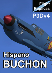 FLIGHT REPLICAS - HISPANO HA-1112-M1L BUCHON FOR P3DV4