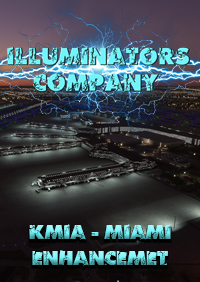 KMIA MIAMI INTERNATIONAL AIRPORT (MIAMI) NIGHT LIGHT ENHANCED FOR MSFS