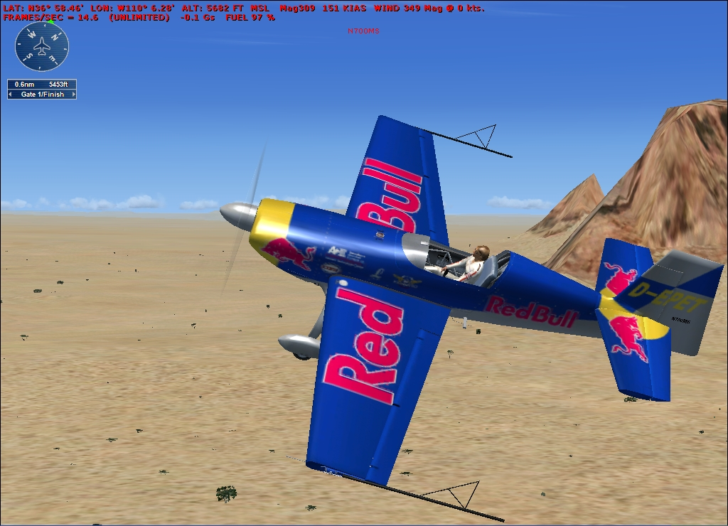 FSX ADD-ONS - RED BULL AIR RACE - MONUMENT VALLEY