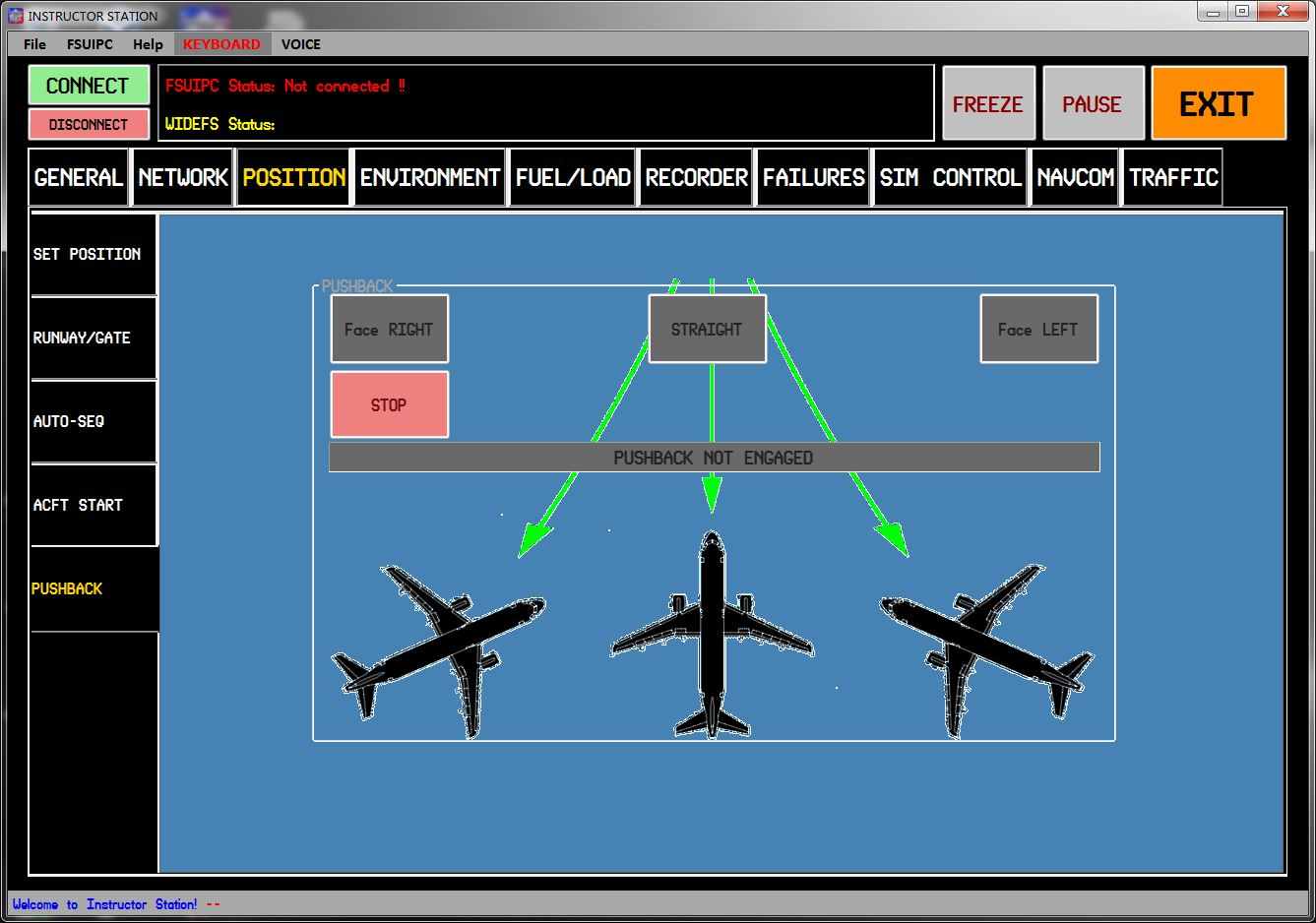 LUIS GORDO - INSTRUCTOR STATION FSX P3D FS2004 X-PLANE