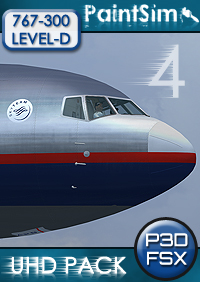 PAINTSIM - UHD TEXTURE PACK 4 FOR LEVEL-D BOEING 767-300ER FSX P3D