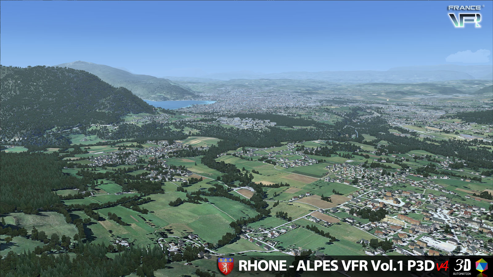 FRANCE VFR - RHONE-ALPES VFR VOL.1 3D AUTOMATION P3DV4