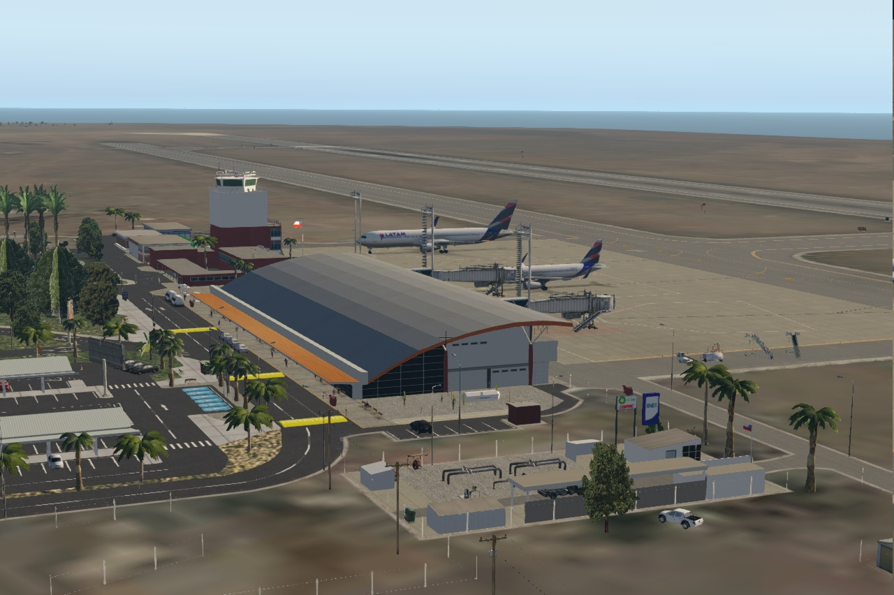 CHILE AIRPORTS 3D - SCAR, ARICA, CHACALLUTA ,CHILE, X-PLANE 11