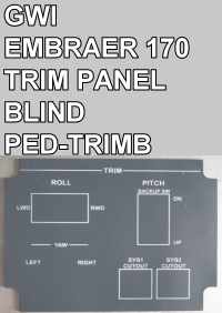 GWI - EMBRAER 170 TRIM PANEL - BLIND - PED-TRIMB