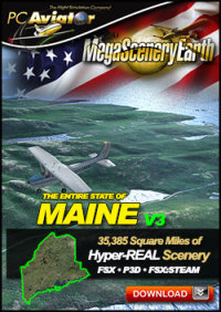 MEGASCENERYEARTH - PC AVIATOR - MEGASCENERY EARTH V3 - MAINE FSX P3D