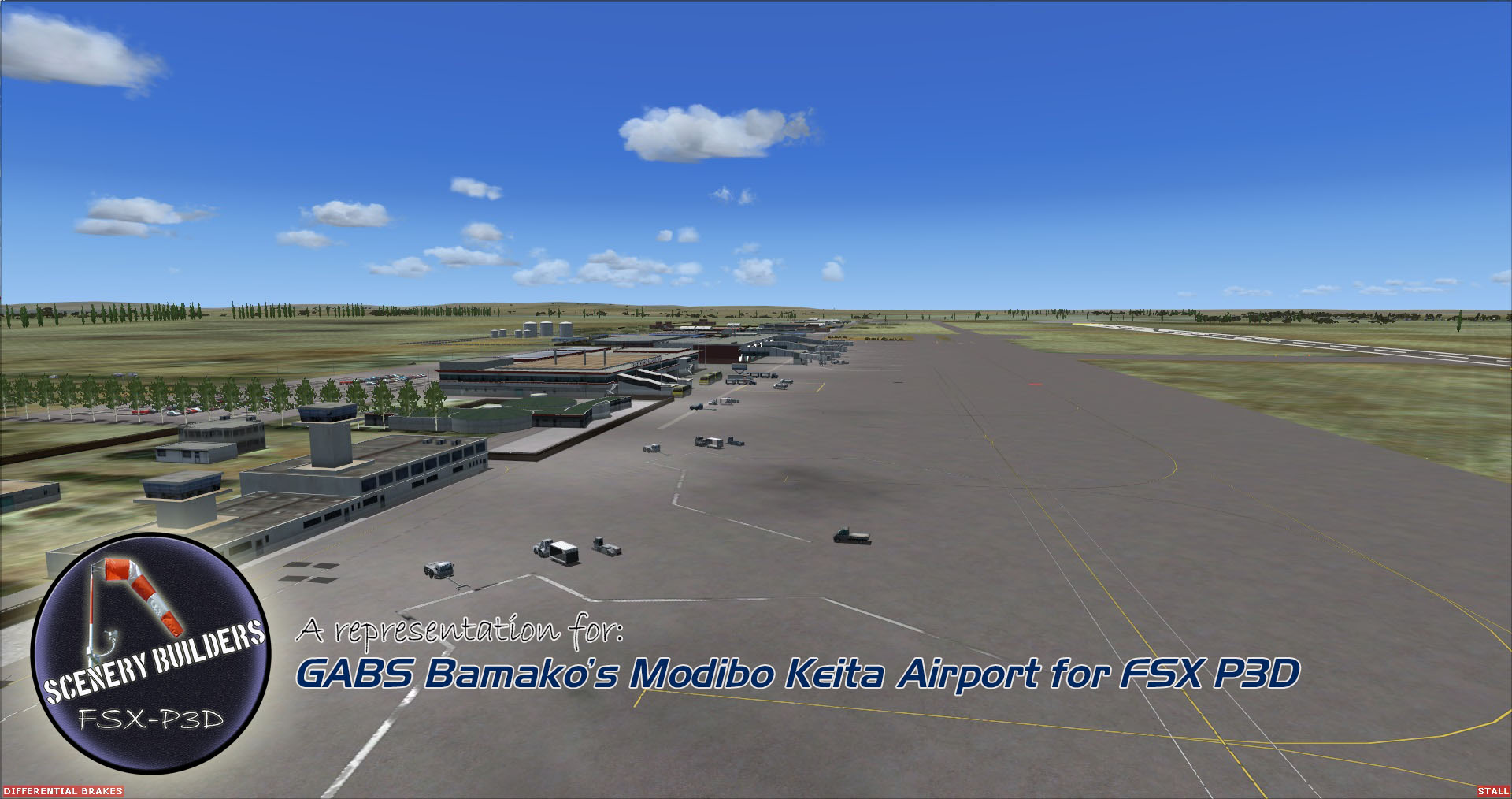 FSXCENERY - GABS BAMAKO'S MODIBO KEITA INTERNATIONAL AIRPORT FSX P3D