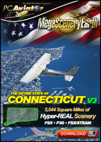 PC AVIATOR - MEGASCENERY EARTH V3 - CONNECTICUT FSX P3D