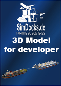 SIMDOCKS.DE - 3D MODEL TUGBOAT BARGE WITH LIQUID GAS BARGE