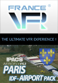 FRANCE VFR - PARIS-ILE-DE-FRANCE VFR AIRPORT PACK FOR AEROFLY FS 2