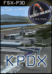 FSXCENERY - KPDX PORTLAND OREGON INTERNATIONAL AIRPORT FSX P3D