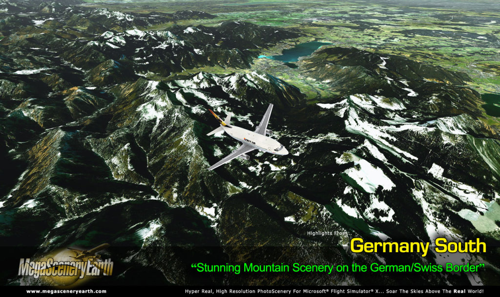 MEGASCENERYEARTH - PC AVIATOR - MEGASCENERY EARTH - GERMANY SOUTH FSX P3D