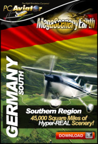 PC AVIATOR - MEGASCENERY EARTH - GERMANY SOUTH FSX P3D
