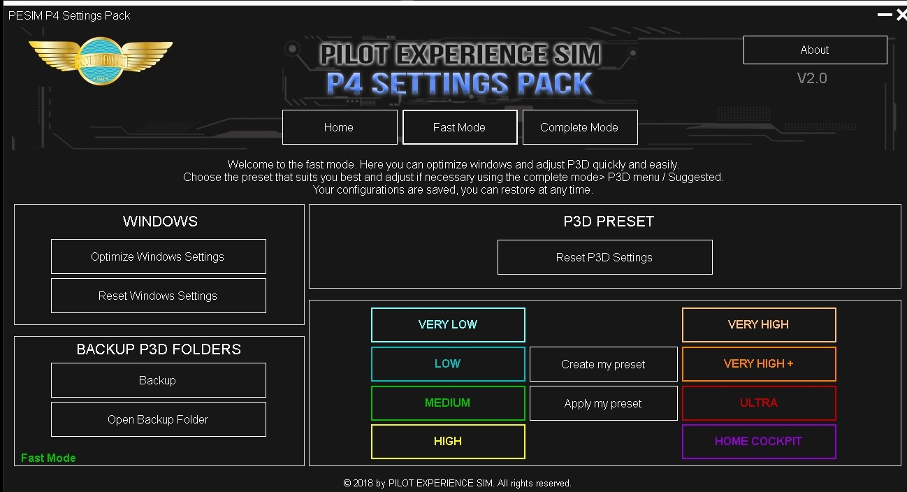PILOT EXPERIENCE SIM - P4 SETTINGS PACK V2 LICENCE
