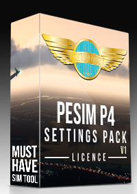 PILOT EXPERIENCE SIM - P4 SETTINGS PACK V1 LICENCE