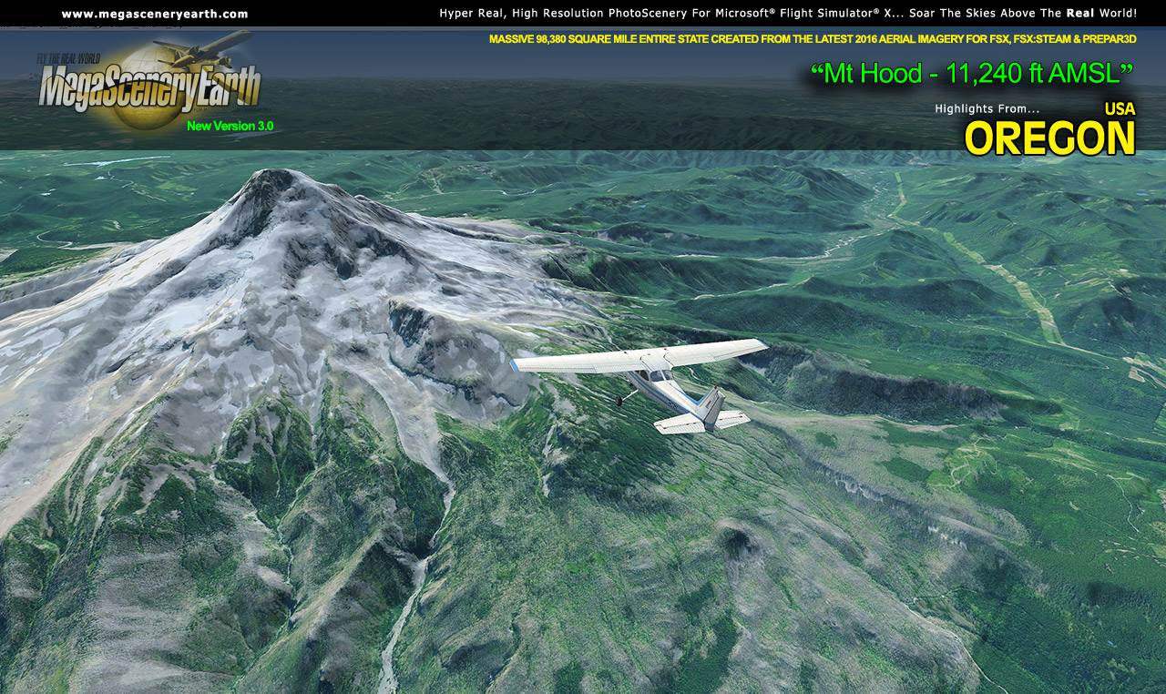 MEGASCENERYEARTH - PC AVIATOR - MEGASCENERY EARTH V3 - OREGON FSX P3D