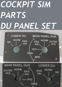 COCKPIT SIM PARTS - DU PANEL SET