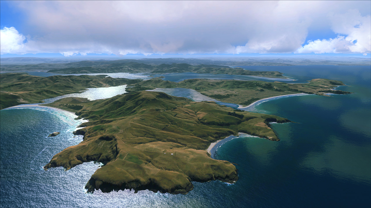 GODZONE - REAL NEW ZEALAND DUNEDIN FSX P3D