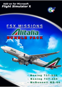 PERFECT FLIGHT - FSX MISSIONS – ALITALIA BUNDLE PACK