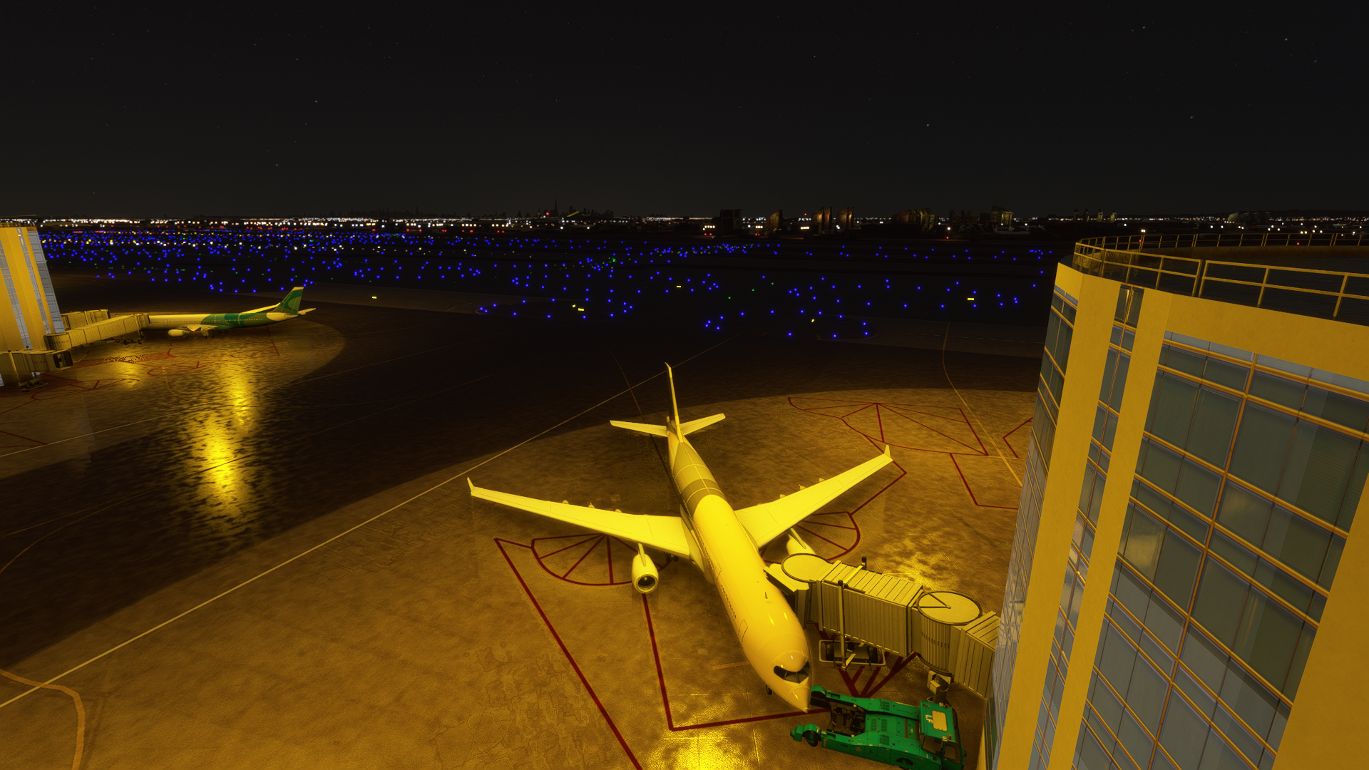 ILLUMINATORS - NEWARK AIRPORT NIGHT LIGHT ENHANCED MSFS