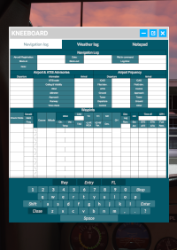 KNEEBOARD-NAVLOG & NOTEPAD WITH VIRTUAL KEYBOARD MSFS