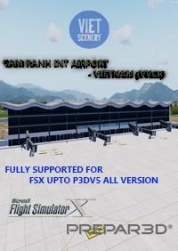 VIET SIM SCENERY - VVCR CAM RANH INTERNATIONAL AIRPORT NEW EDITION FSX P3D1-5