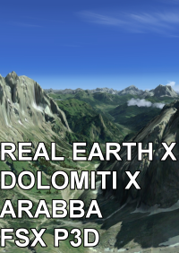 REAL EARTH X - DOLOMITI X: ARABBA FSX P3D