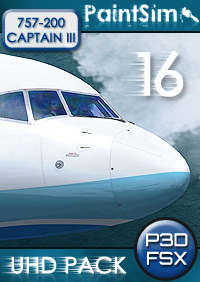 PAINTSIM - UHD TEXTURE PACK 16 FOR CAPTAIN SIM BOEING 757-200 III FSX P3D