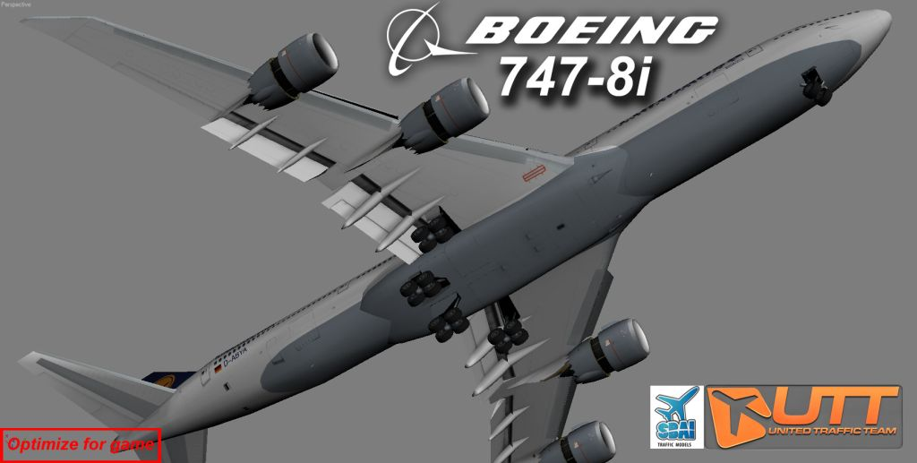 UTT - BOEING 747-8F FREIGHTER SOURCE MODEL FOR 3DS MAX