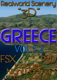 REALWORLD SCENERY - REALWORLD SCENERY GREECE 3D VOL.1.2 FSX P3D