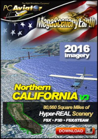 MEGASCENERYEARTH - PC AVIATOR - MEGASCENERY EARTH V3 - NORTHERN CALIFORNIA FSX P3D