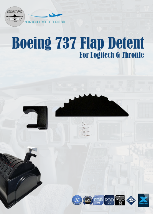 COCKPIT PHD - BOEING 737 FLAP DETENT FOR LOGITECH G THROTTLE