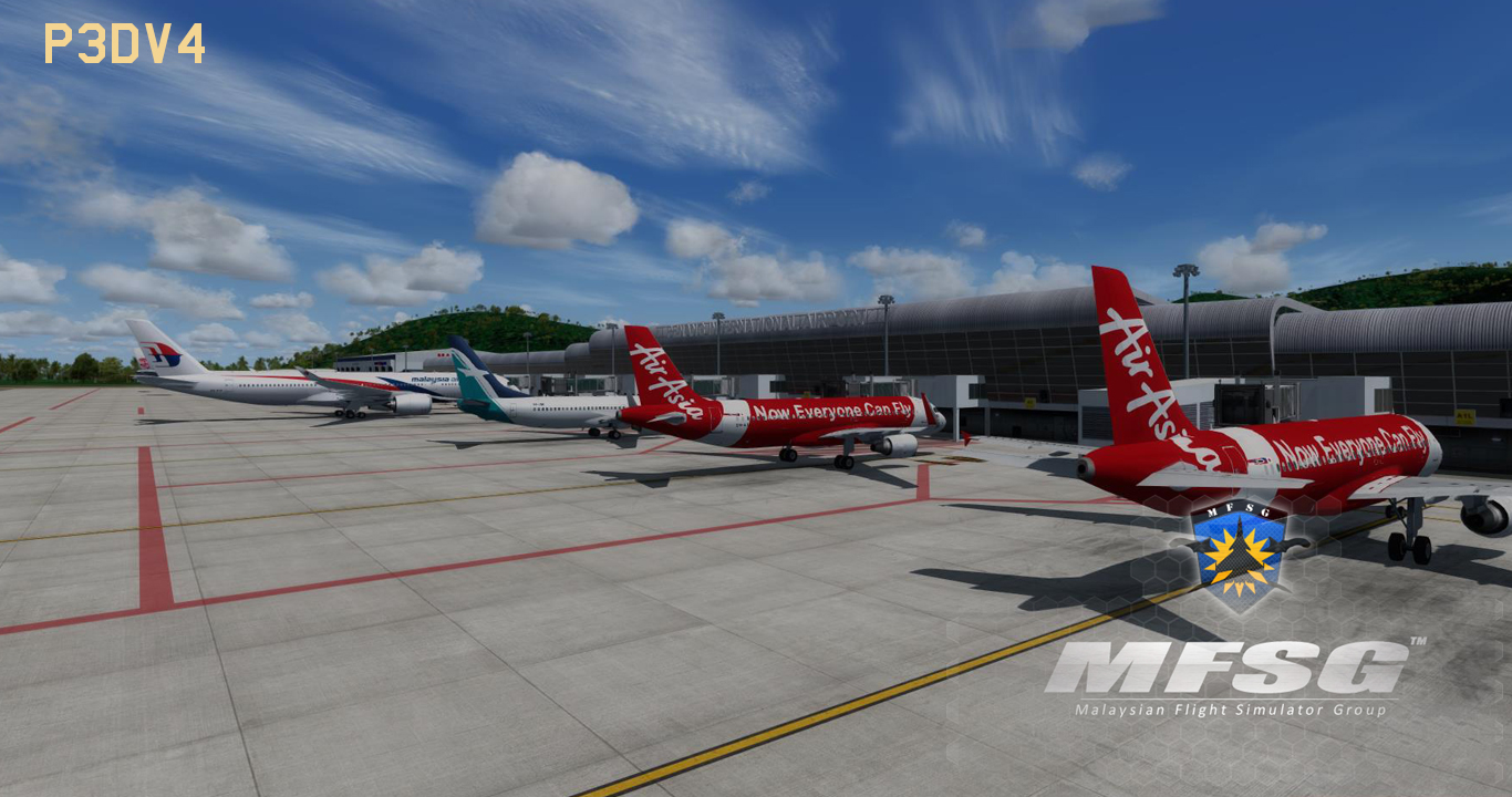 MFSG - PENANG INTERNATIONAL AIRPORT WMKP 2019 FSX P3D FS2004