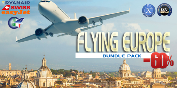 PERFECT FLIGHT - FLYING EUROPE BUNDLE PACK FSX