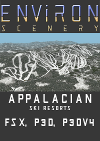 ENVIRON SCENERY - APPALACIAN SKI RESORTS FSX P3D
