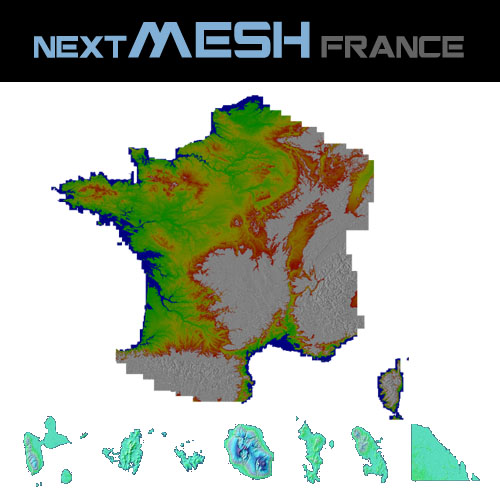FRANCE VFR - NEXTMESH FRANCE 4.75M 法国4.75米精度地形网格 P3D