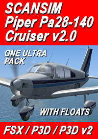 SCANSIM - PIPER PA28-140 CHEROKEE FSX P3D