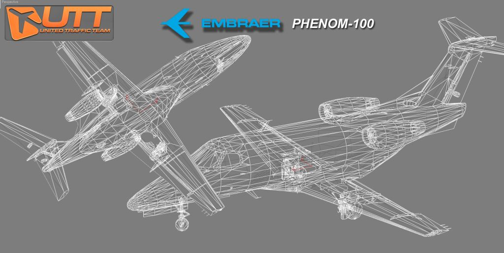 UTT - EMBRAER PHENOM 100 SOURCE MODEL FOR 3DS MAX