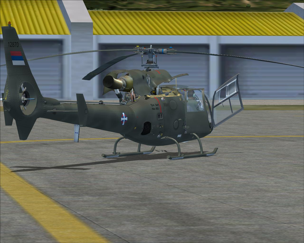 MP DESIGN STUDIO - AEROSPATIALE-SOKO SA-341 GAZELLE SERBIA AIR FORCE FS2004