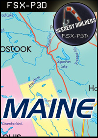 FSXCENERY -   1ST MAINE REGIONAL AIRPORTS PACK (4) FSX P3D