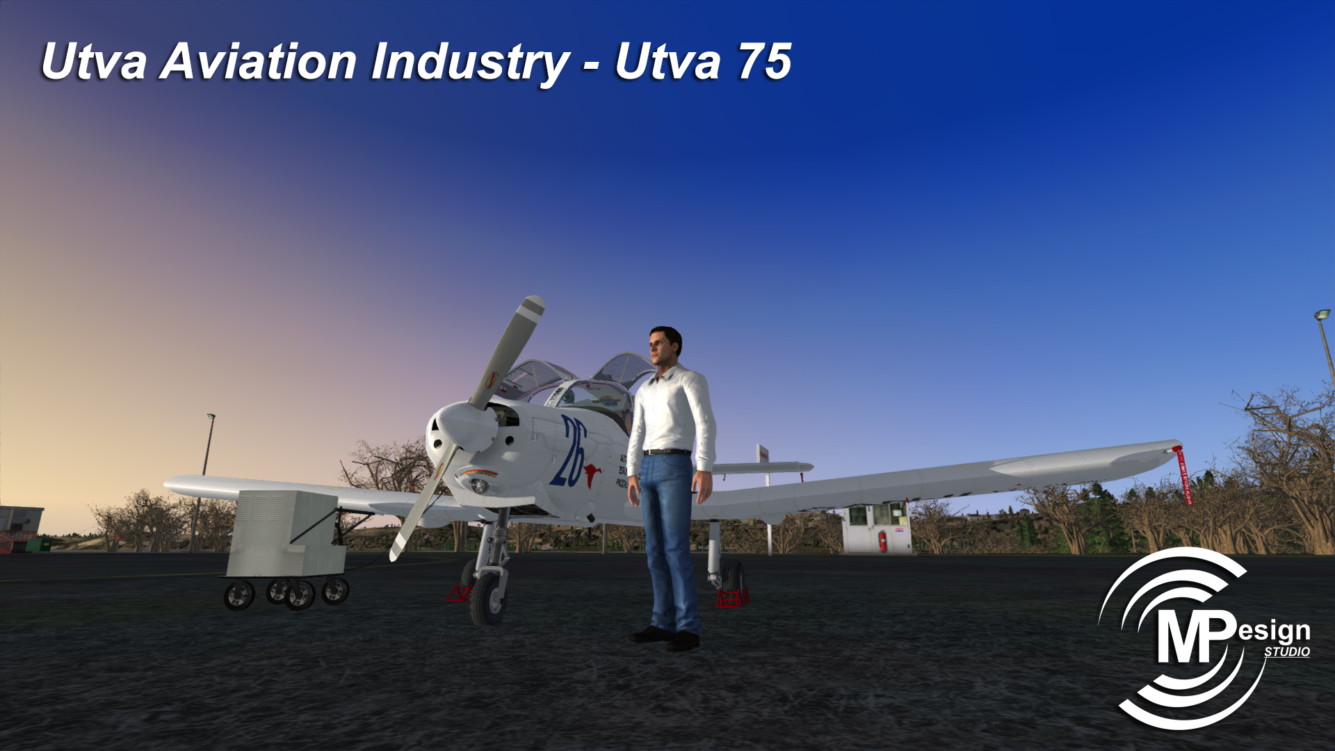 MP DESIGN STUDIO - UTVA AVIATION INDUSTRY - UTVA 75 FSX P3D