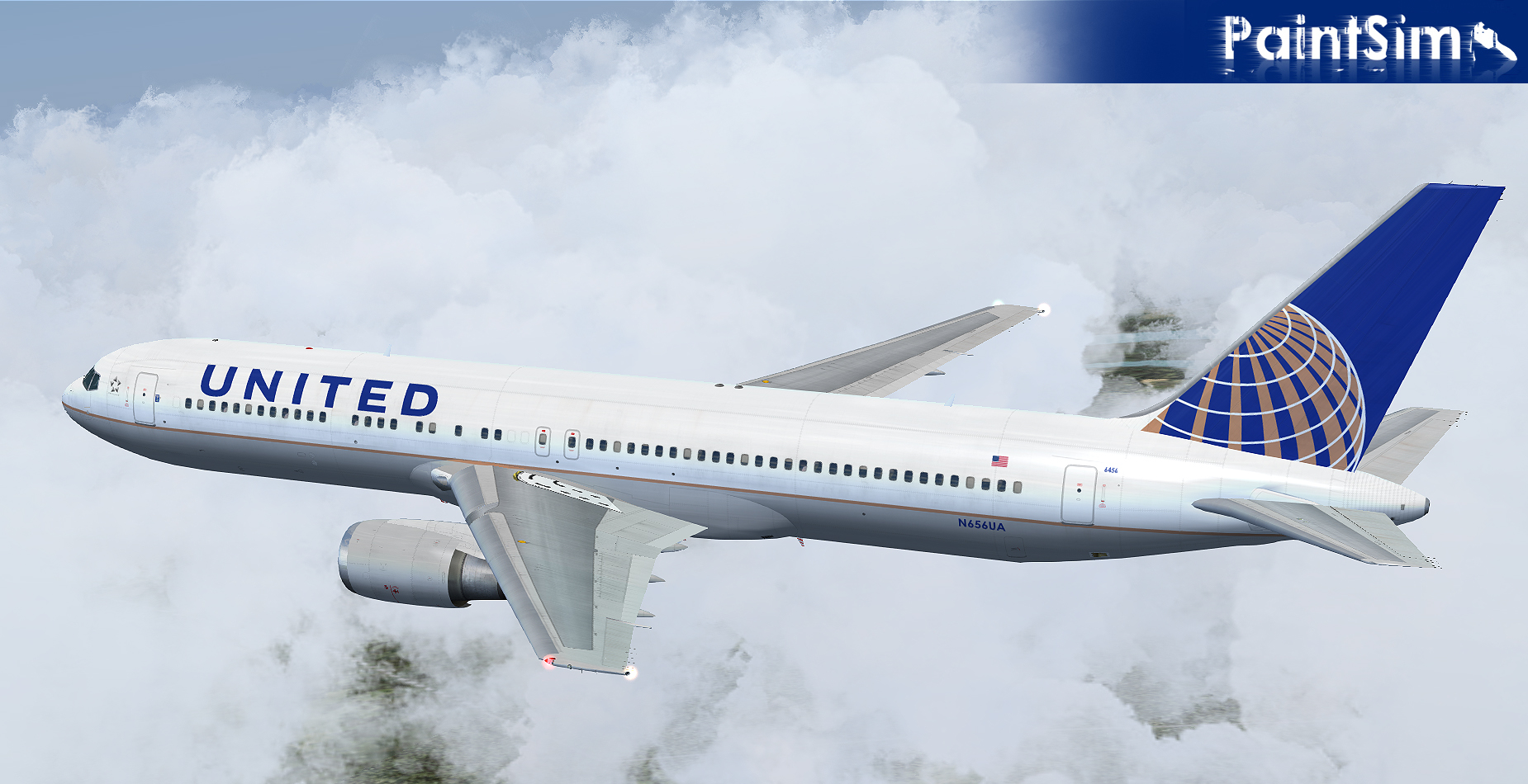 PAINTSIM - UHD TEXTURE PACK 5 FOR LEVEL-D BOEING 767-300ER FS2004